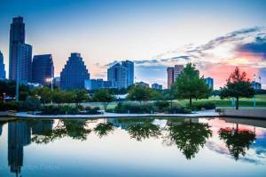 austin at sunset